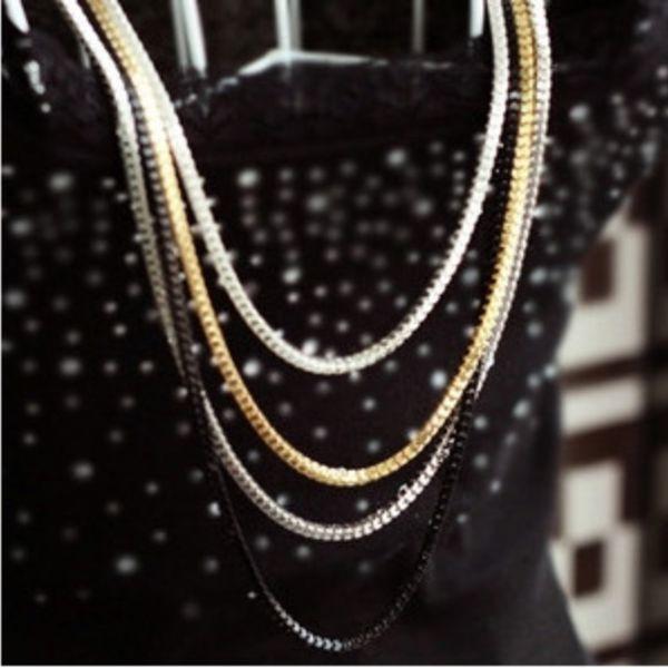 Vícevrstvý náhrdelník a poštovné ZDARMA! - 5503085
