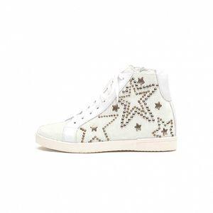 Dámske biele kotníkové tenisky Queen Cult s hviezdami