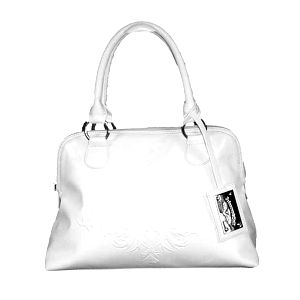Dámska biela kabelka s plastickým vzorom Princess Cult