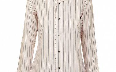 Dámska lila pyžamová košeľa Tom Tailor s prúžkami