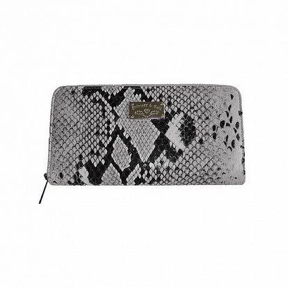 Dámska šedá kabelka so vzorom hadej kože Princess Cult