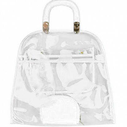 Dámska biela priehladná kabelka Princess Cult