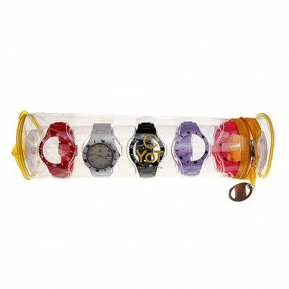 Sada dámských hodinek Yot s vyjímatelným bílým ciferníkem