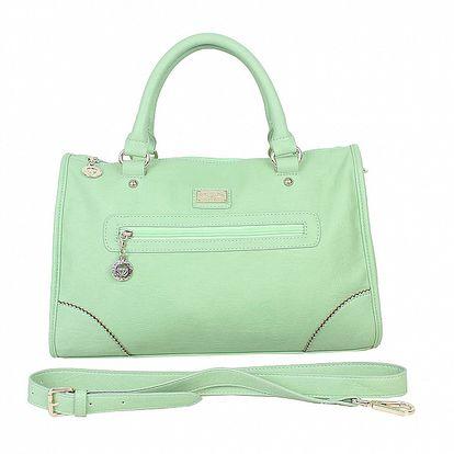 Dámska mätovo zelená kabelka s odopínateľným popruhom Princess Cult