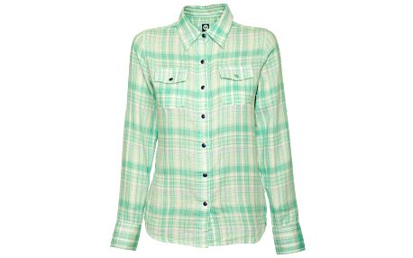Dámska matové zelená kockovaná košeľa Roxy