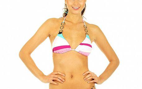 Dámské pruhované bikini s kovovými kroužky Roxy