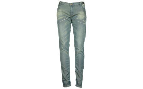 Dámske svetlo modré džínsy so zipsami na nohaviciach Roxy