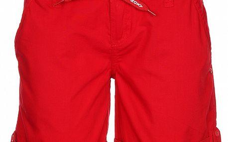 Dámske červené kraťasy so záložkou Roxy