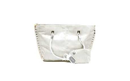 Dámská krémová kabelka se zlatými cvočky a peněženkou na drobné Princess Cult