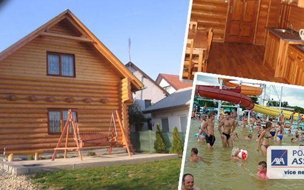 Týdenní pobyt v krásné, stylové dřevěnici Zrub na Slovensku. Dokonalá krajina a nejznámější termální koupaliště Slovenska vzdálené jen 10 minut! Vychutnejte si Vaši dovolenou!!