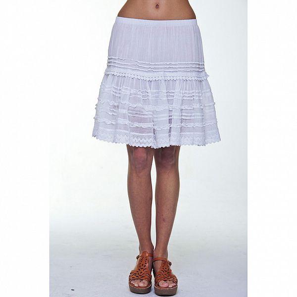 Dámská bílá volánková sukně Kool
