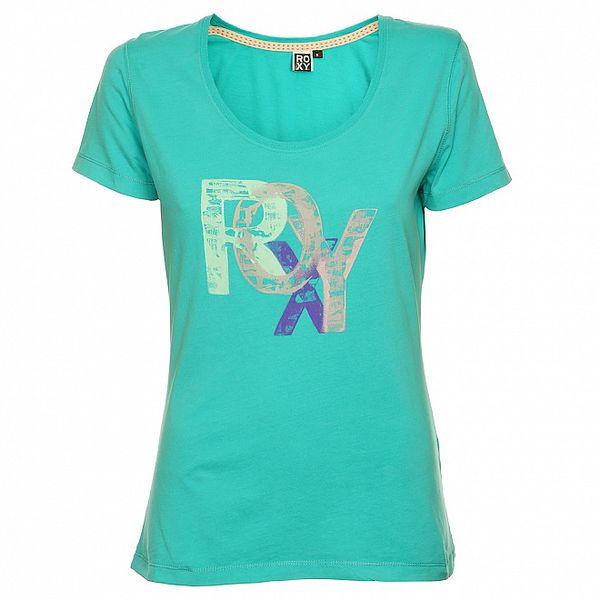 Dámske tyrkysové tričko s potlačou Roxy