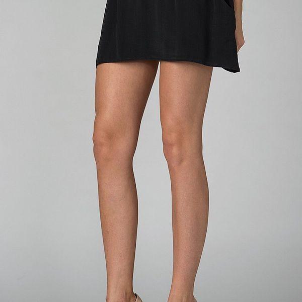 Dámská černá hedvábná mini sukně By Zoé