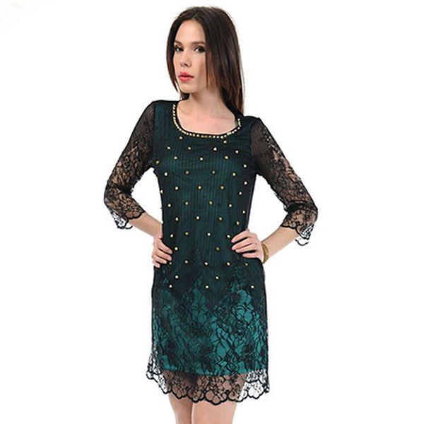 Zeleno-černé šaty z tisíce a jedné noci