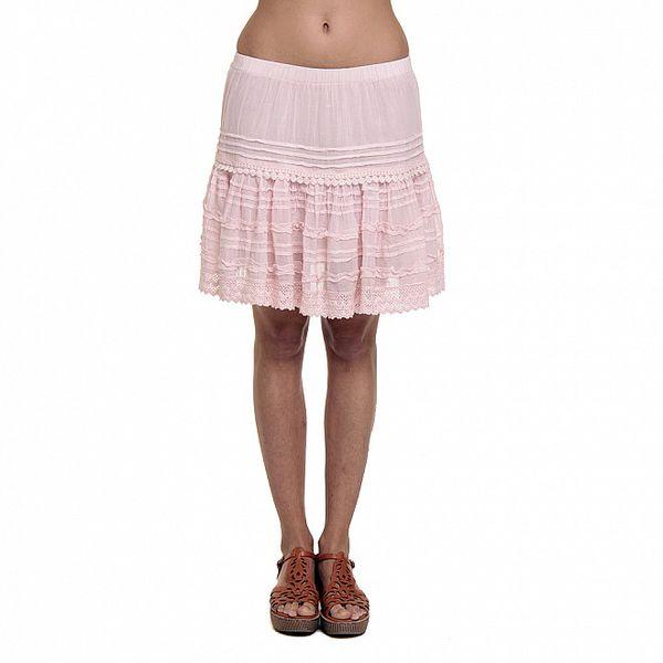 Dámská růžová volánková sukně Kool