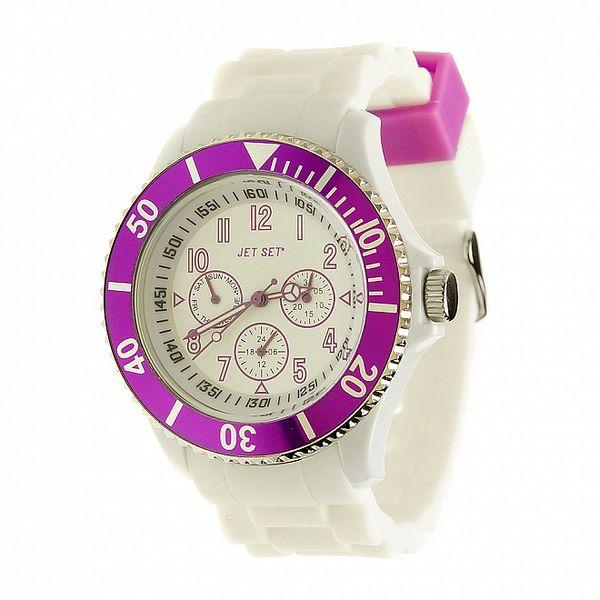 Dámske bielo-fialové hodinky Jet Set