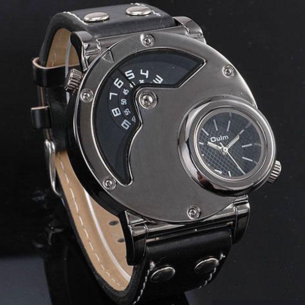 Pánské designové multifunkční hodinky se dvěma ciferníky a poštovné ZDARMA! - 124