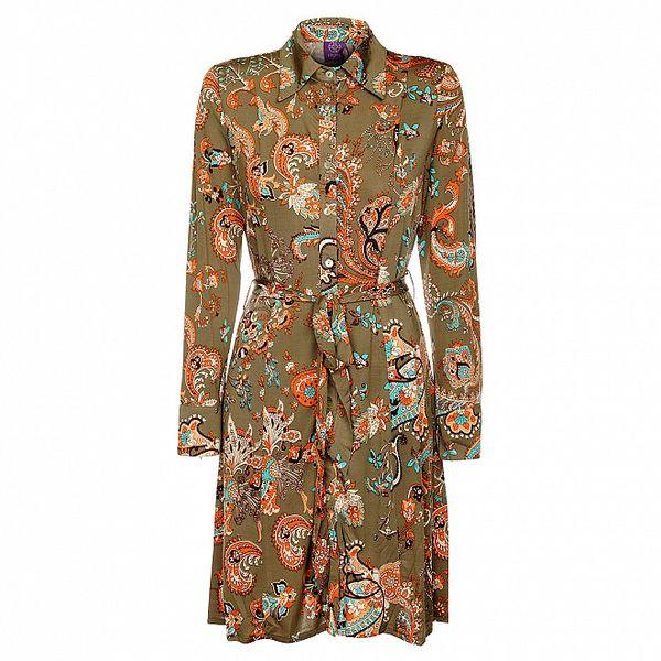Dámské khaki šaty Hope s květinovým vzorem