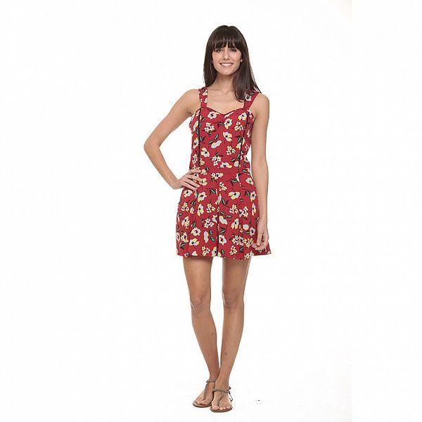 Dámské červený overal s květinovým vzorem Roxy