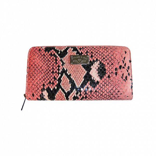Dámska melónová kabelka so vzorom hadej kože Princess Cult