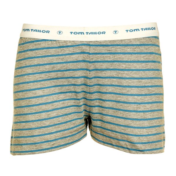 Dámské šedo-modré proužkované šortky Tom Tailor