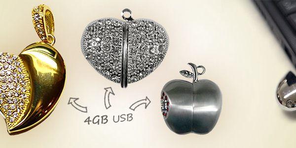 Luxusné 4 GB USB kľúče s kamienkami