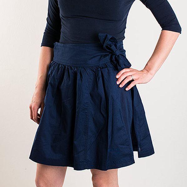 Tmavě modrá zavinovací sukně Fenchurch