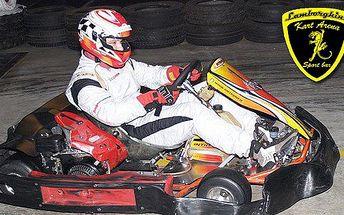 2 adrenalinové jízdy na motokárách a nápoj k tomu v Lamborghini Kart Areně! Zažíjte rychlost, adrenalin a vzrušení závodníka F1!