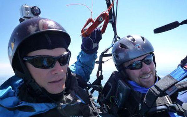 Tandemový paragliding za 1695 Kč včetně HD videa!