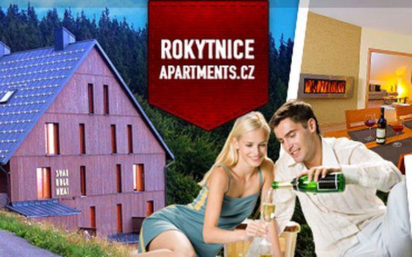 Krkonoše: exkluzivní apartmány až pro 8 osob již od 151 Kč pro jednoho za noc
