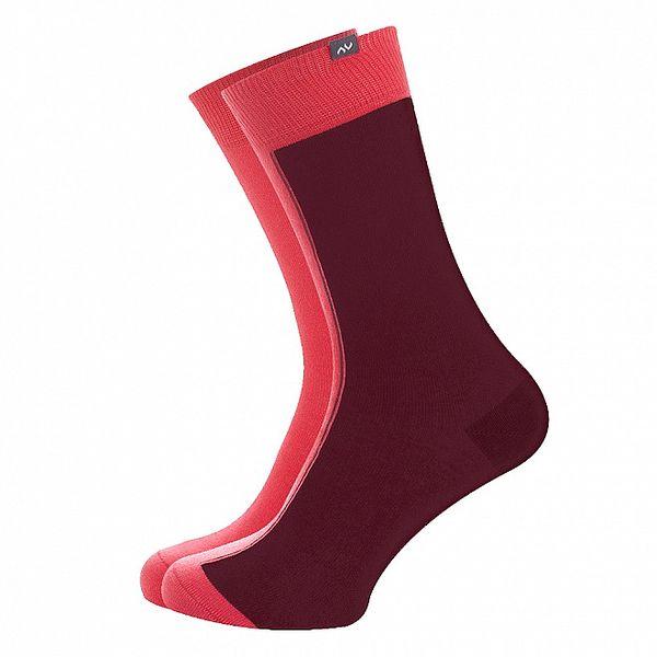 Dámske ružovo-hnedé ponožky Minga Berlin - 3 páry