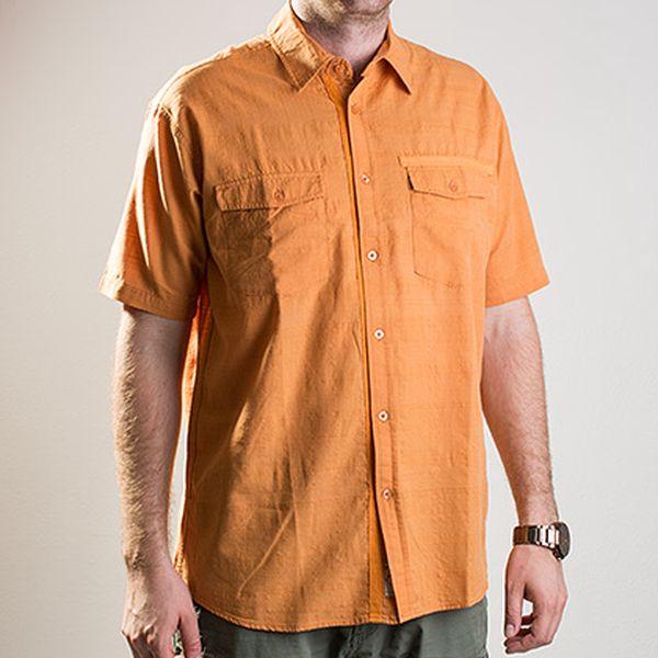 Oranžová bavlněná košile Gavin