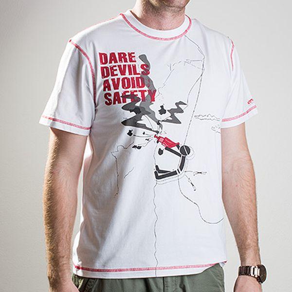Bílé triko Devil Climb