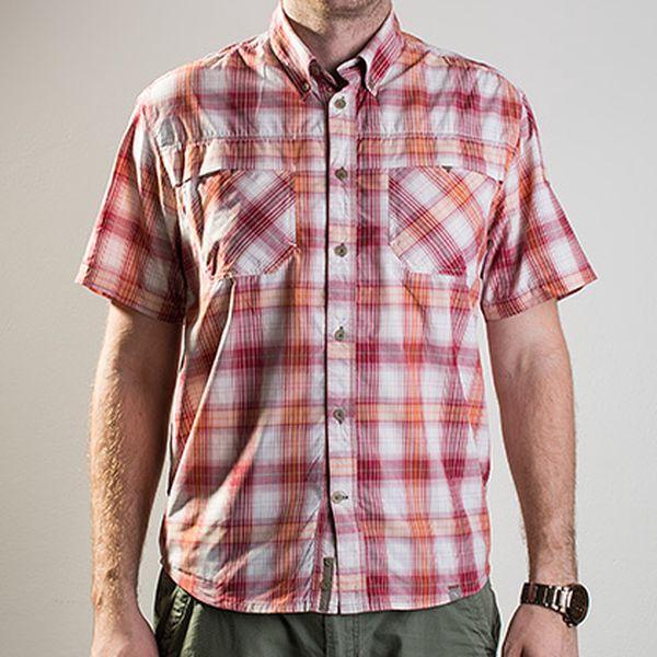 Kostkovaná červená košile Pro–Dry Trail