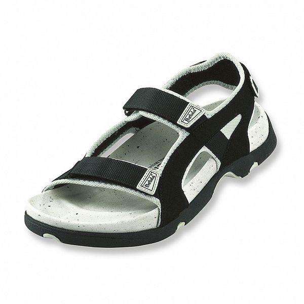 Pánske čierne textilné sandálky Betula