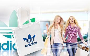 Parádní TAŠKA ADIDAS za pouhých 59 Kč! Navíc OSOBNÍ ODBĚR ZDARMA! Pořiďte si stylovou tašku na nákupy, na pláž nebo jako doplněk, kam schováte vše se slevou 50%!