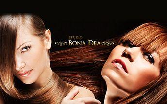 Profesionální DÁMSKÝ KADEŘNICKÝ BALÍČEK pro všechny délky vlasů za skvělých 149 Kč! MYTÍ, STŘIH, FOUKANÁ, STYLING a důraz na regeneraci Vašich vlasů! To vše ve studiu Bona Dea v centru Českých Budějovic se slevou 67%!
