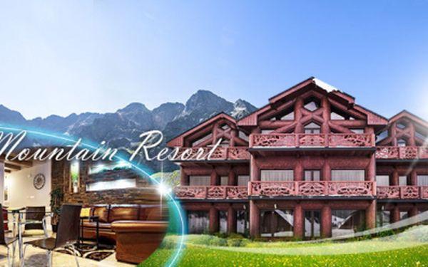 Luxusní pobyt v Tatrách! 4 DNY pro 2 osoby + 2 děti v nádherných APARTMÁNECH Mountain Resort za 5.355 Kč! Velkolepé designové apartmány v krásné přírodě Belianských Tater! Platnost voucheru od června do září!