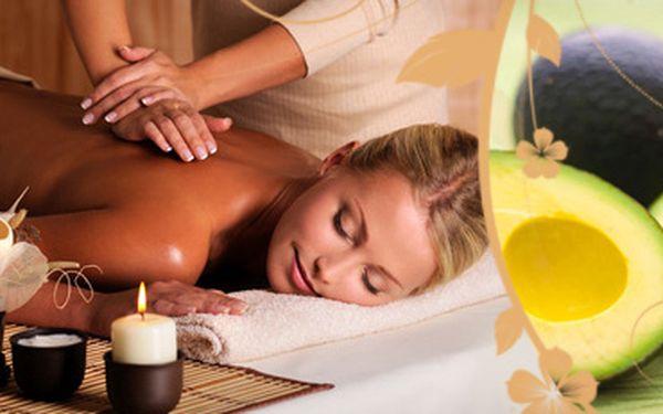 Luxusní 80minutová masáž celého těla vyživujícím avokádovým olejem!