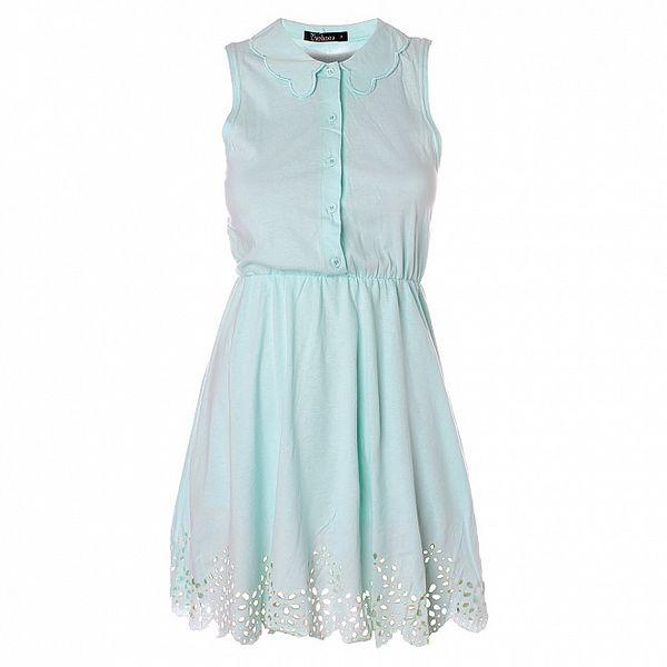 Dámské mátově zelené šaty s límečkem Daphnea