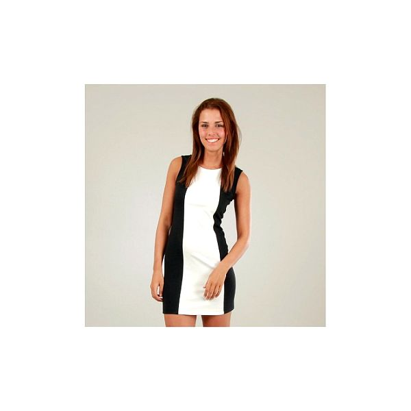 Dámske čierno-biele šaty Ginger Ale