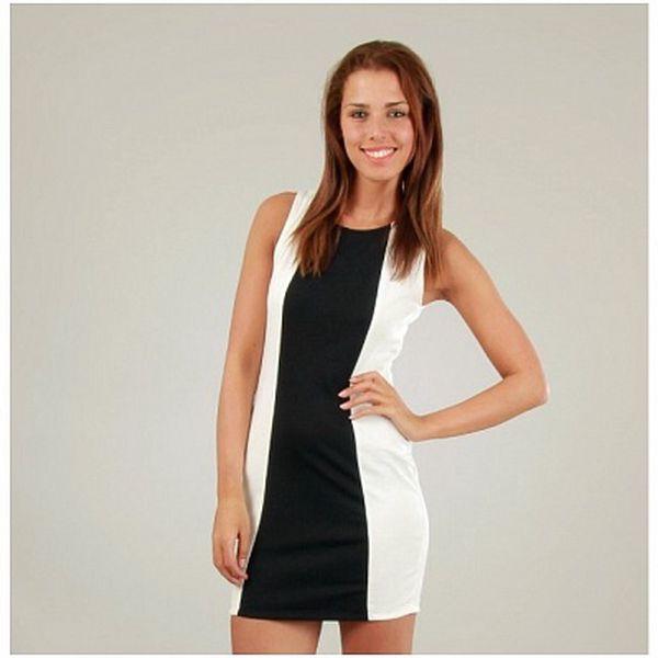 Dámske bielo-čierne šaty Ginger Ale