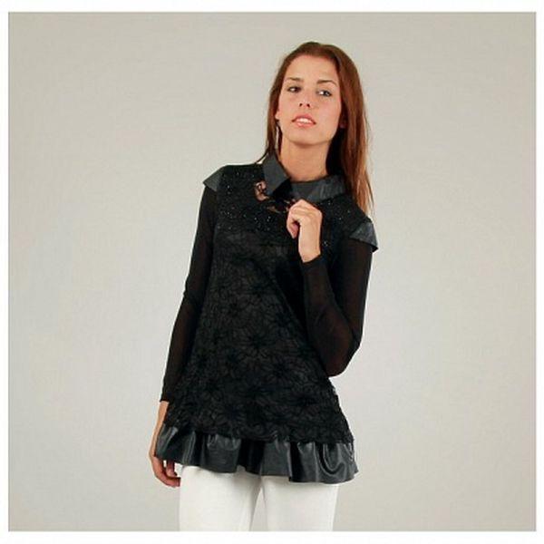 Dámská černá krajková tunika Ginger Ale