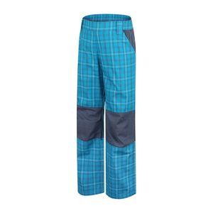 Dětské sportovní kalhoty Alpine Pro modré kárované