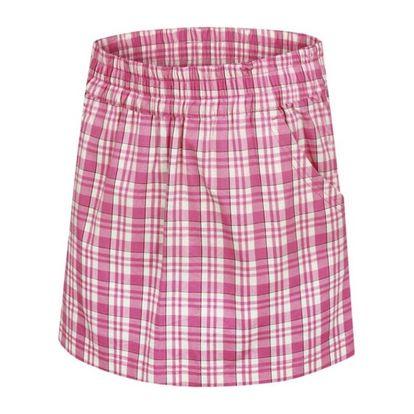 Dětská sukně Alpine Pro růžovo-bílá károvaná