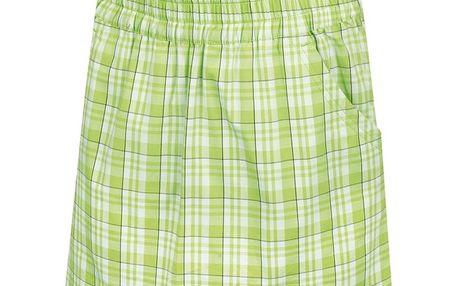 Dětská sukně Alpine Pro zeleno-bílá károvaná