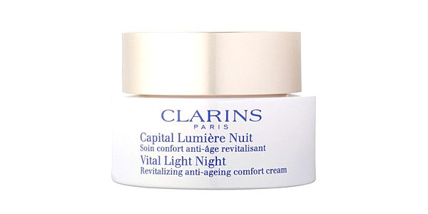 Clarins Revitalizační noční krém pro zralou pleť Vital Light Night (Revitalizing Anti-Ageing Comfort Cream) 50 ml + CLARINS Miniatura kosmetického produktu ZDARMA