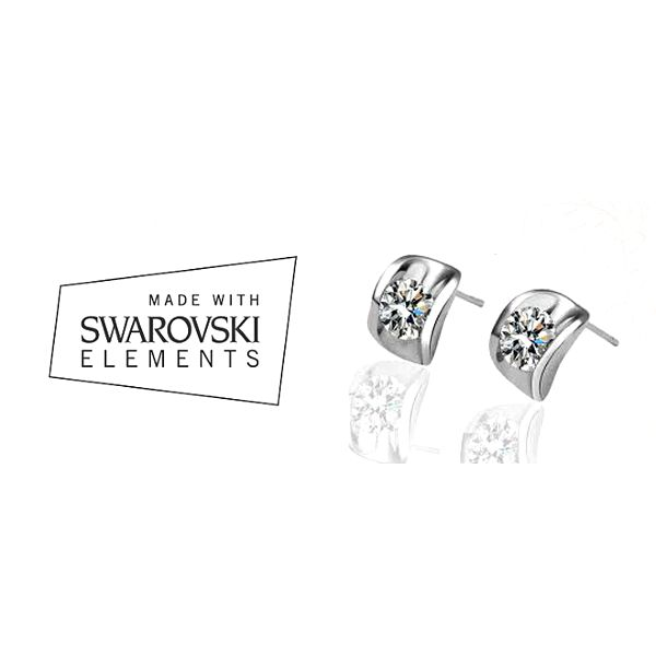 Třpytivé náušnice Swarovski elements