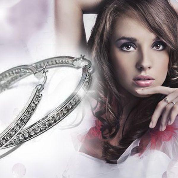Luxusní náušnice s krystaly Swarovski Elements