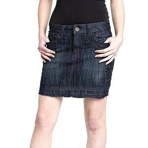 Tmavě modrá džínová sukně